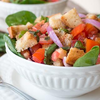 Gluten-Free Balsamic Panzanella Salad