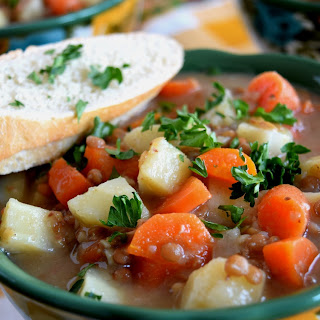 Root Vegetable and Lentil Soup.