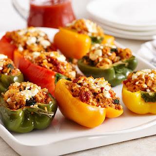 Feta Spinach Stuffed Peppers Recipes.