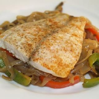 Five-Spice Barramundi With Hoisin Shirataki Noodles.