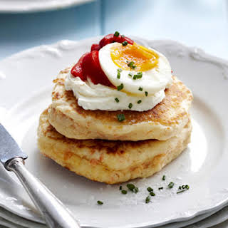 Salmon Blini with Egg.