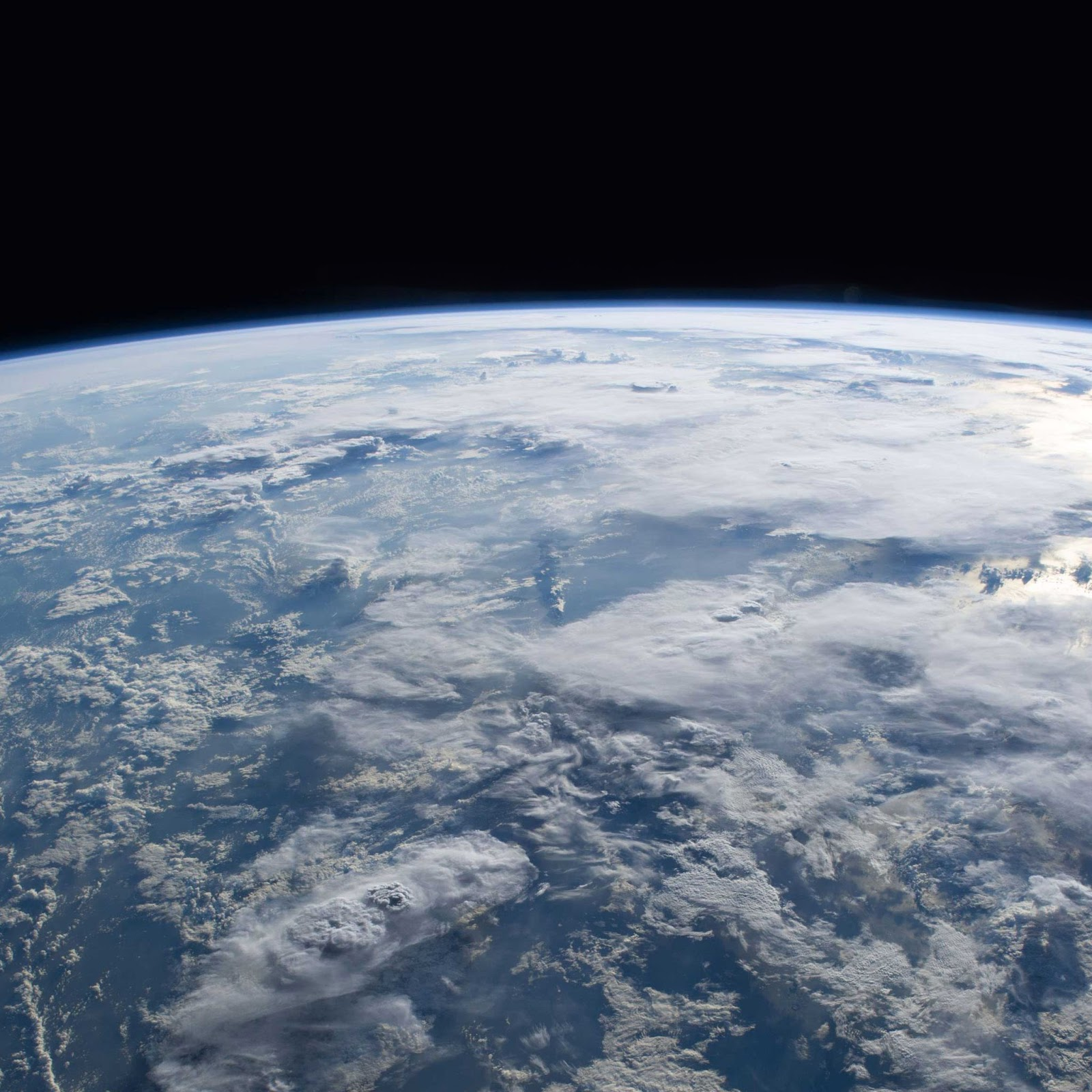 Earth seen from space.