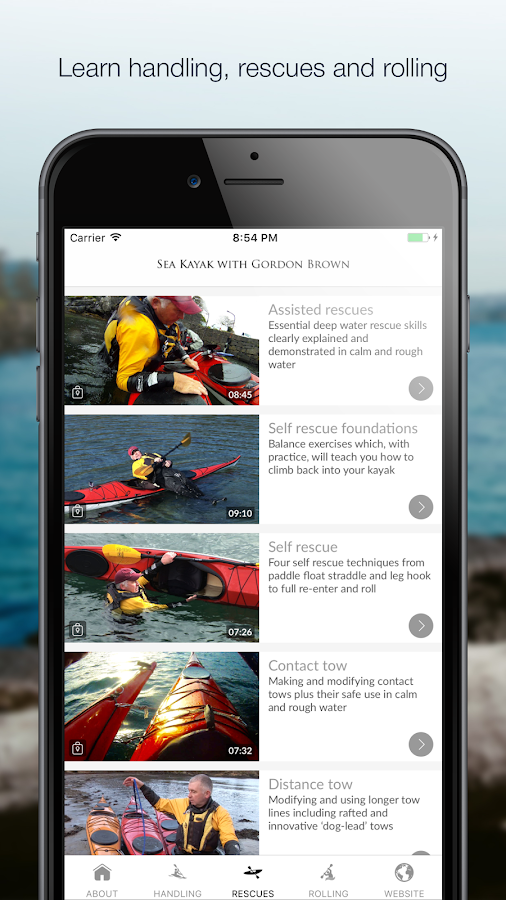 Sea Kayak with Gordon Brown- screenshot