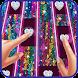 Piano Sequin Tiles Glitter Glow Heart Love Music