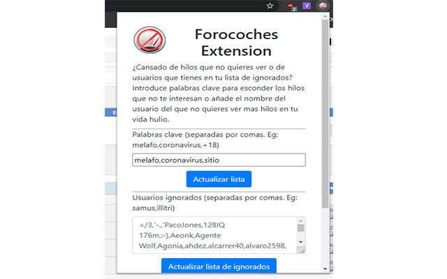 Forocoches Extension