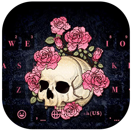 Rose Skull Kika Keyboard Icon