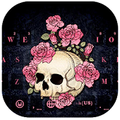 Rose Skull Kika Keyboard