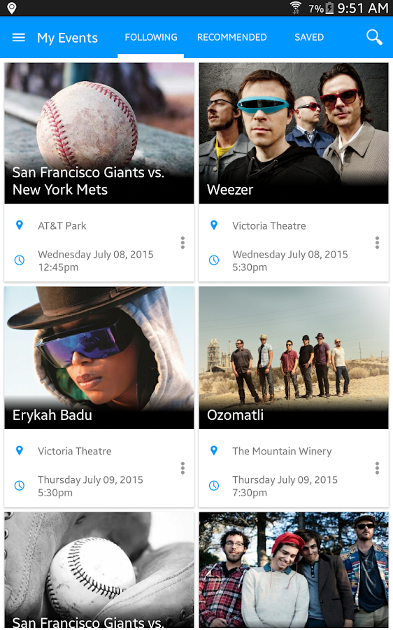 eventseeker - events, concerts - screenshot