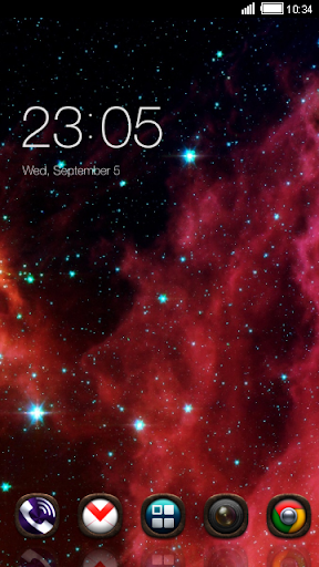 Red Galaxy CLauncher Theme