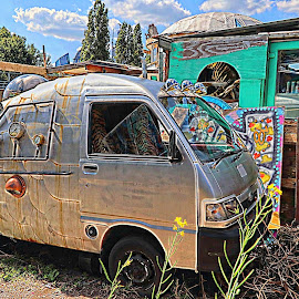 Van by Joaquim Ribeiro - Transportation Automobiles ( van, 2018, london, august, abandoned, brick lane,  )