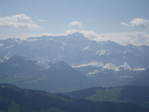 Photo: Säntis, the first high top from the northern side of the Alps http://www.swiss-flight.net