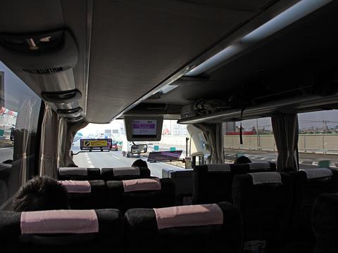 名鉄バス「名神ハイウェイバス京都線」 2014 名古屋高速走行中