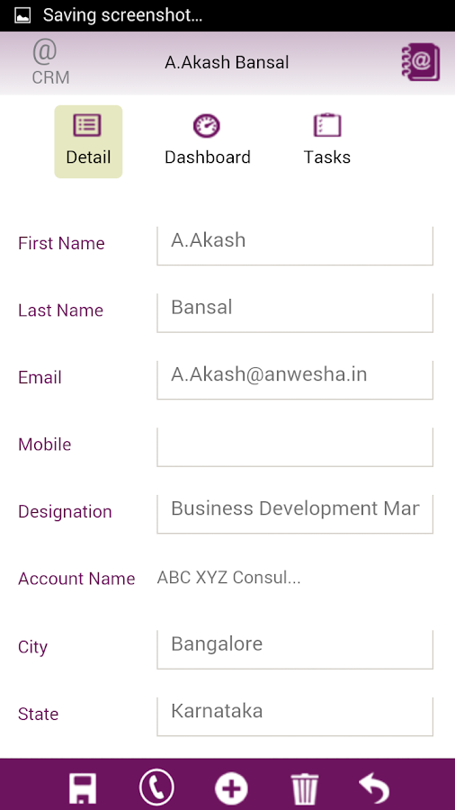 Saleswah CRM Plus- screenshot