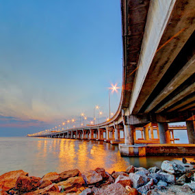Penang Bridge, Malaysia by Danny Tan - Landscapes Sunsets & Sunrises
