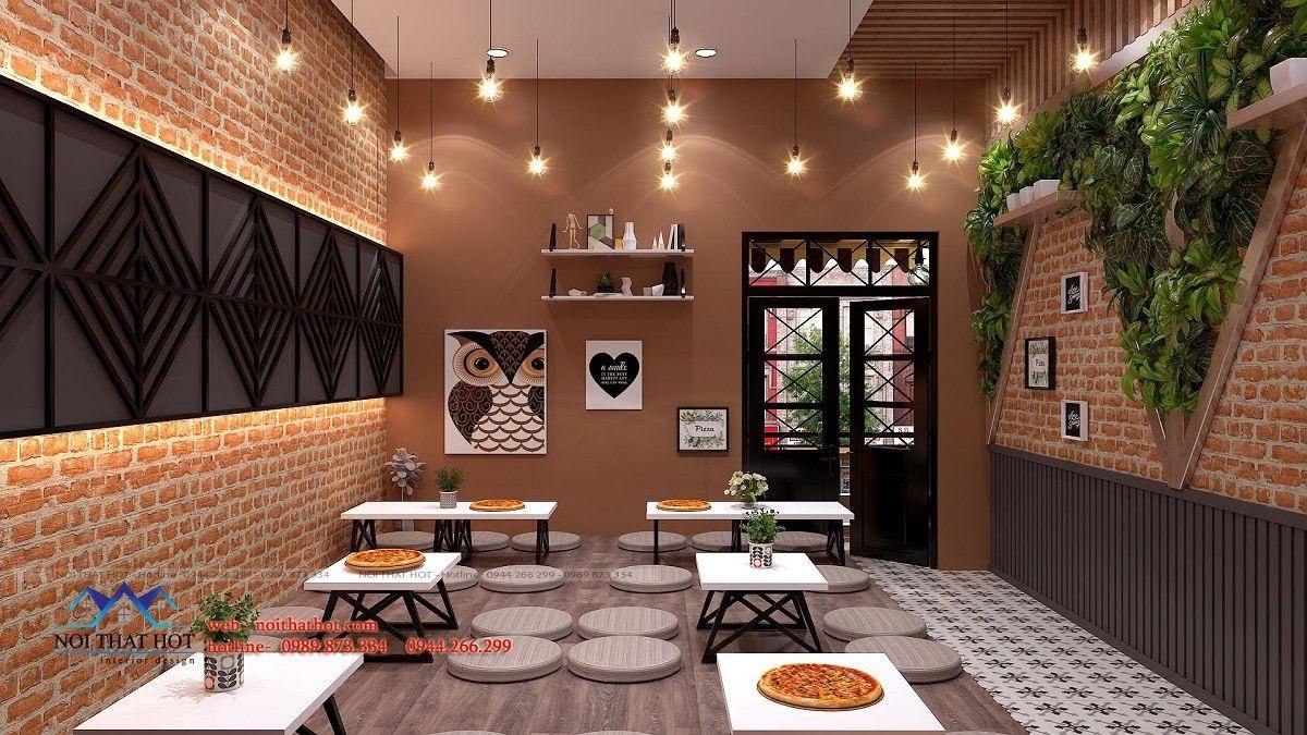 thiết kế cửa hàng pizza bau's 20