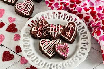Semi-Homemade Valentine Mocha Brownie Bites