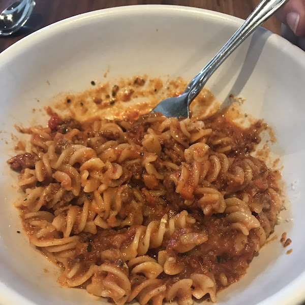 Bolognese with gluten free pasta