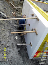 Photo: ... outside layer (9 footers) extends all the way down to the stone below the foam which is below the footer ...
