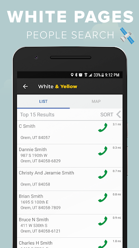 White & Yellow Pages screenshot 2