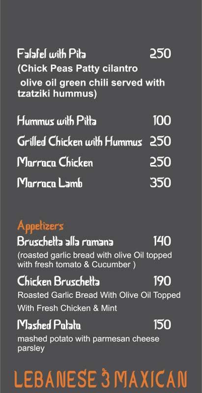 Moh Maya Cafe menu 8