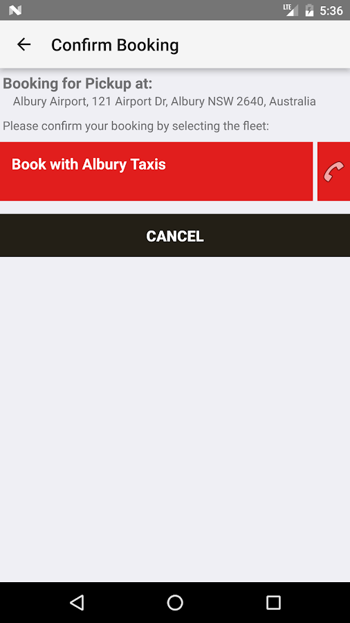 Albury Taxis- screenshot
