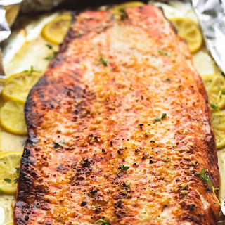 Baked Honey Lemon Garlic Salmon in Foil Recipe