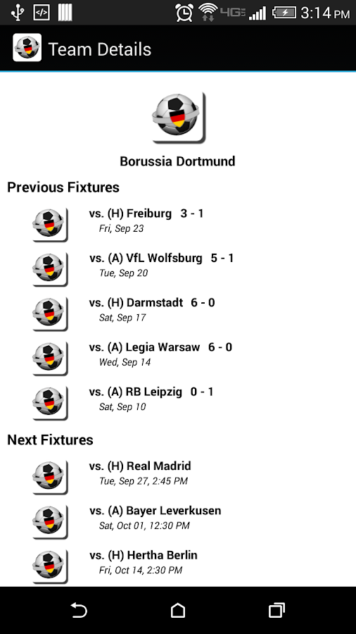 Bryan's Bundesliga Scores Android Apps on Google Play
