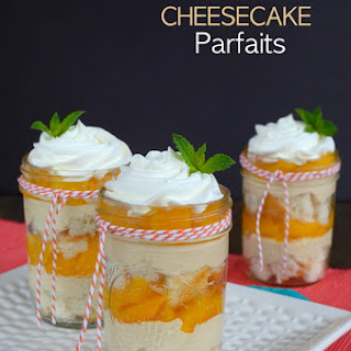 Peach Pie Cheesecake Parfaits