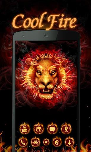 Cool Fire  GO Launcher Theme  screenshots 1