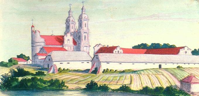 Язэп Драздовіч. Беразвецкi манастыр. 1926 г. Фрагмент.