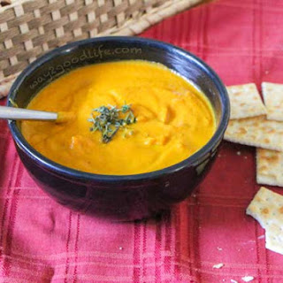 Creamy Carrot & Sweet Potato Soup