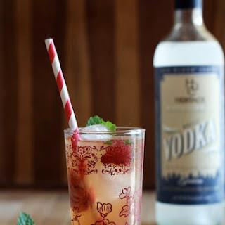 Meyer Lemonade with Roasted Strawberries & Vodka