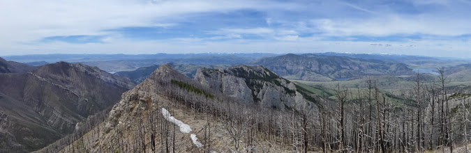Photo: View from Willow Peak - Upper Holter on left, Lower Holter on Right
