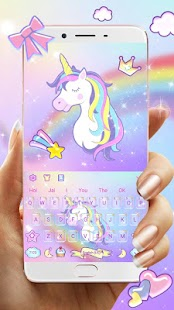 Rainbow Unicorn Keyboard Theme - náhled