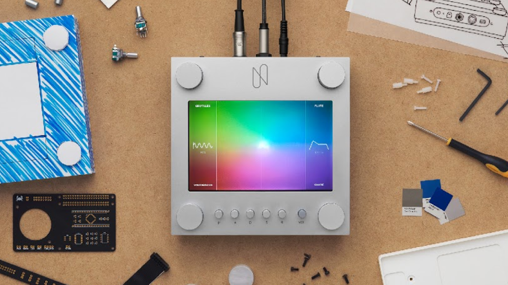 Photo of the NSynth Super physical interface