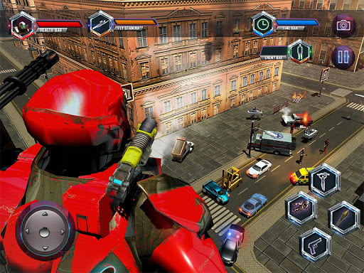 Flying Robot Grand City Rescue Spil (APK) gratis downloade til Android/PC/Windows screenshot