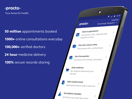 Practo — Doctors, Order Medicines, Consult Online app (apk) free download for Android/PC/Windows screenshot