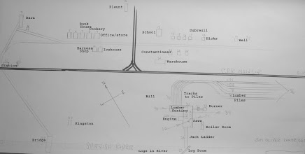 Photo: Jim Oliver's map of Wye, 1932, drawn in 2007