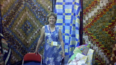 Photo: Kathy Herder did machine quilting on the two fellowship quilts