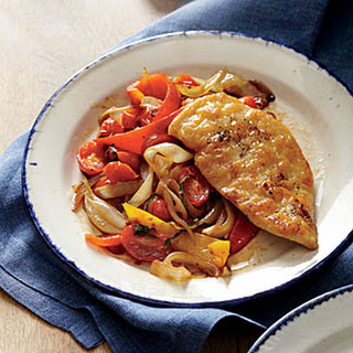 Chicken Scaloppine with Peperonata.