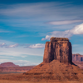 Monument Valley Pastel by Chad Roberts - Landscapes Deserts ( navajo, artist point, monument valley, desert, arizona, panorama )