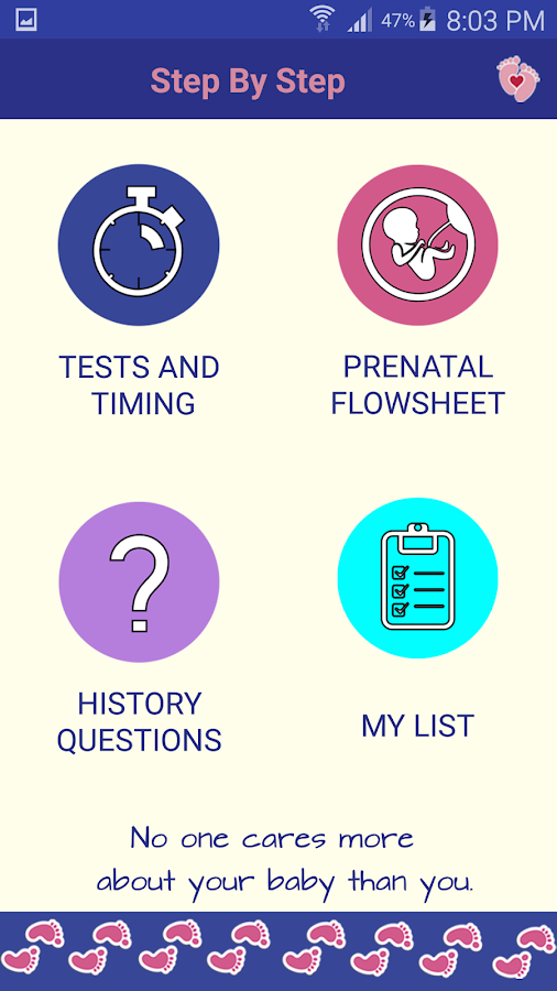 Step by Step Pregnancy Care- screenshot