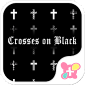 Crosses on Black Wallpaper