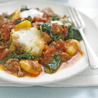 Gnocchi Bolognese With Spinach.