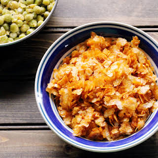 Sweet and Spicy Poha.