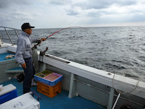 Photo: 潮が変わり、ウキ流し開始!