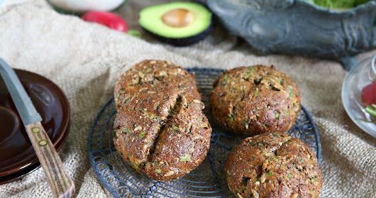 Seedy Bread Rolls with Broccoli Sprouts