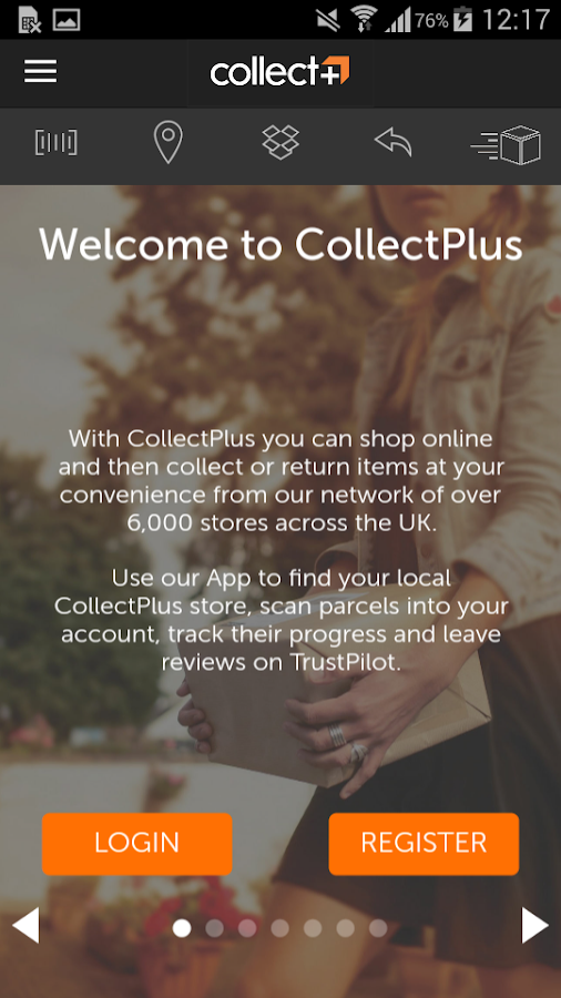 CollectPlus: parcels made easy- screenshot