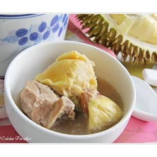 Double-Boiled Durian Chicken Soup