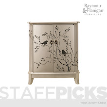 Photo: I love this beautiful accent chest—the hand-painted pattern is so cute and exactly my style. The neutral silver/charcoal/black combo is perfect for me—it's so versatile and will go great with just about and color palette I can come up with. http://bit.ly/GFgXtd - Graphic Designer Becky